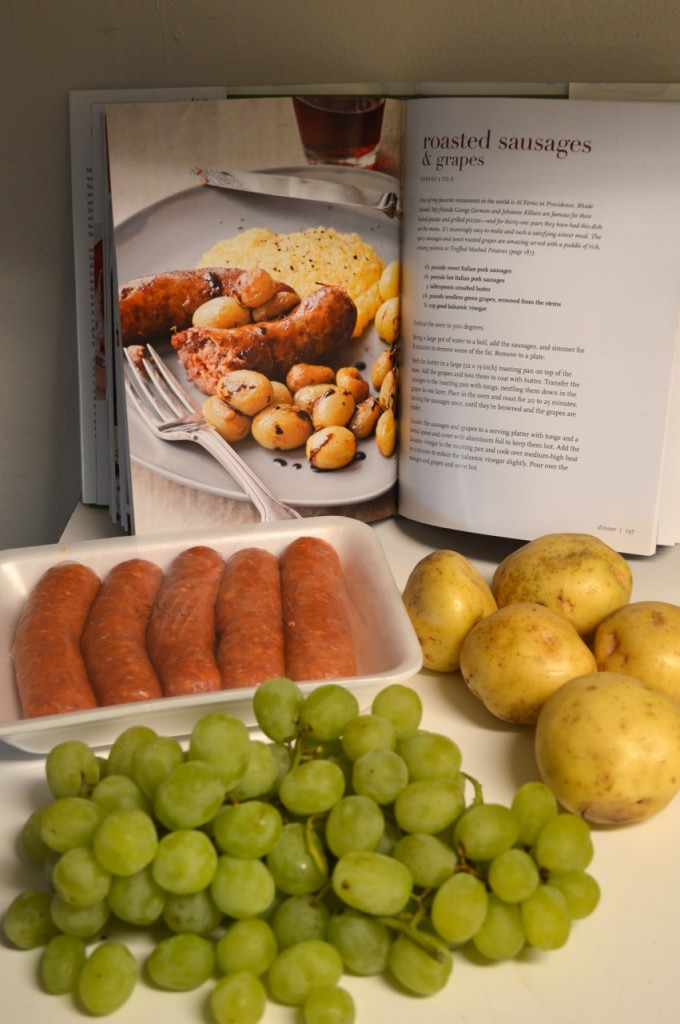 Roasted Sausages with Grapes - 1