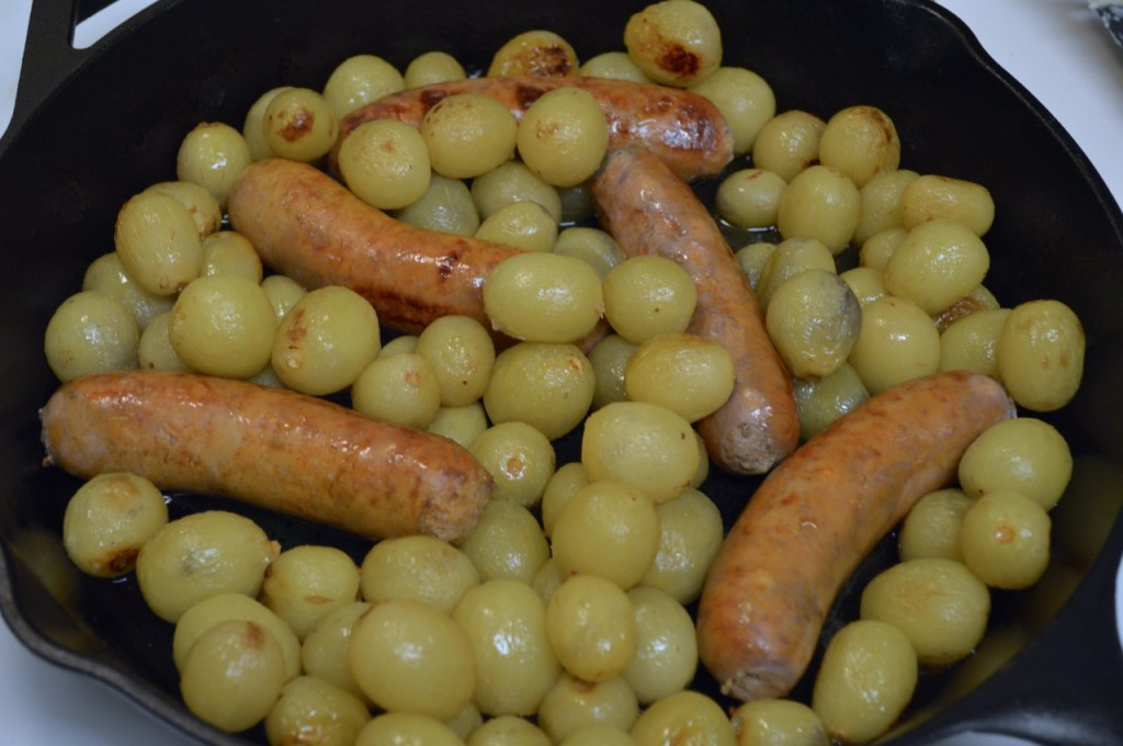 Roasted Sausages with Grapes - 5