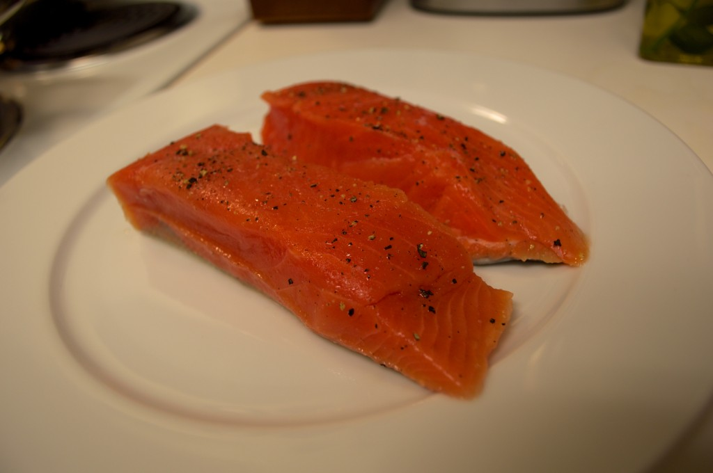 Salmon and Cherry Tomatoes