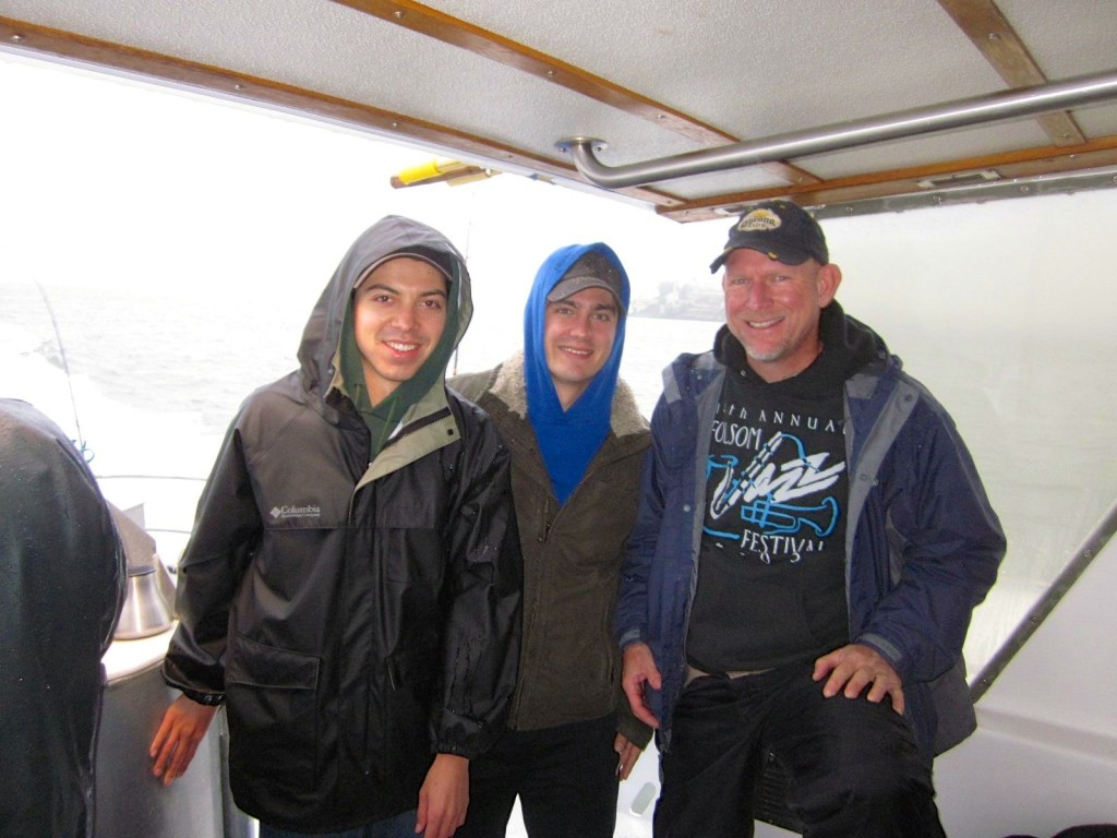 Gabe, Brent and Rudy on Salmon Fishing Trip