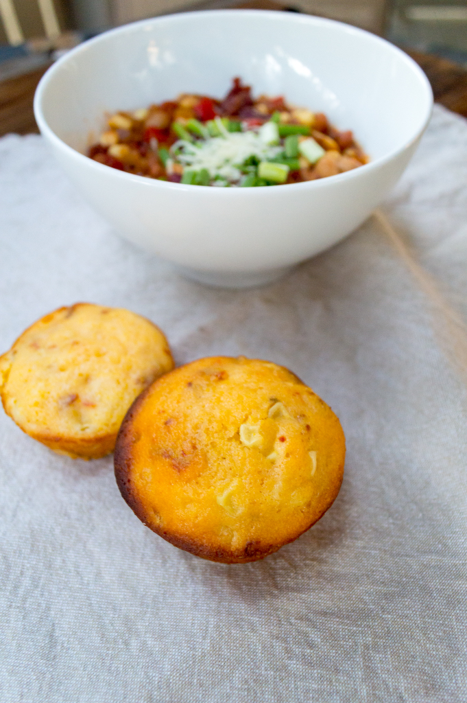 These savory corn muffins are the perfect complement to a warm bowl of chili or stew on a crisp fall day! | cookinginthecreek.com