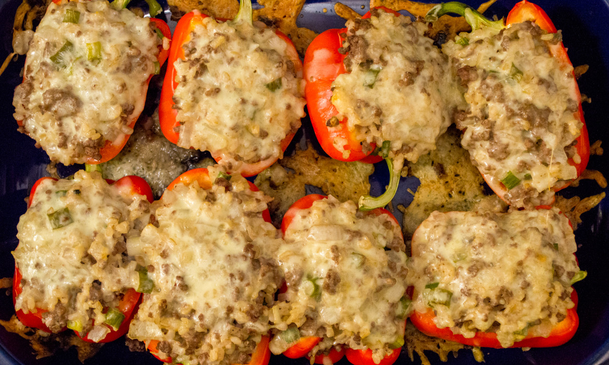 bell peppers recipe simplyrecipes com dad s stuffed bell peppers ...